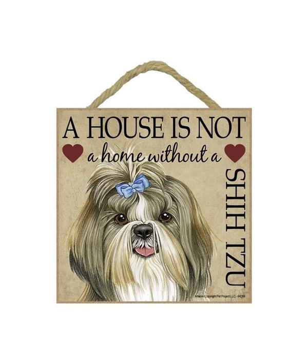 Shih Tzu House 5x5 Plaque