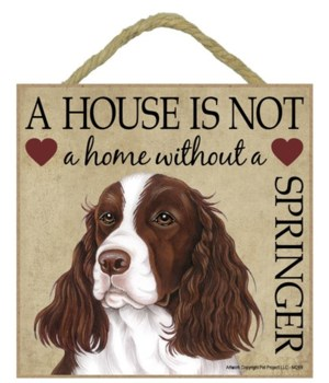 Springer Spaniel House 5x5 Plaque