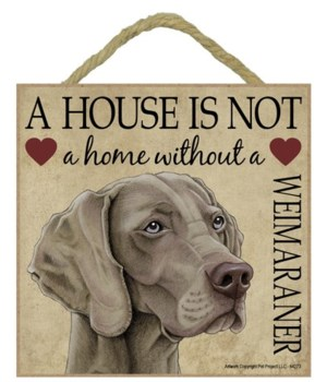 Weimaraner House 5x5 Plaque