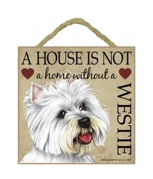 Westie House 5x5 Plaque