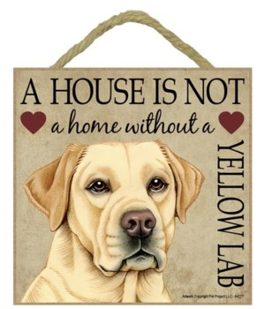 Yellow Lab House 5x5 Plaque
