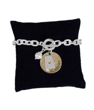 AL Toggle Bracelet Pearl Disc