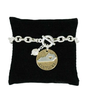 KY Toggle Bracelet Pearl Disc