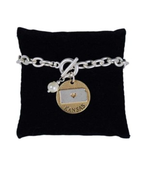 KS Toggle Bracelet Pearl Disc