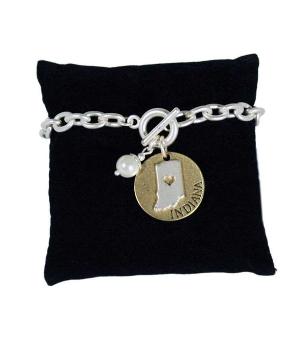IN Toggle Bracelet Pearl Disc