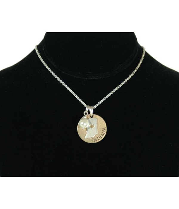 IN Toggle Necklace Pearl Disc