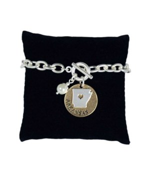 AR Toggle Bracelet Pearl Disc