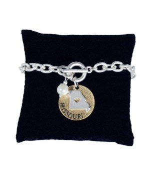 MO Toggle Bracelet Pearl Disc