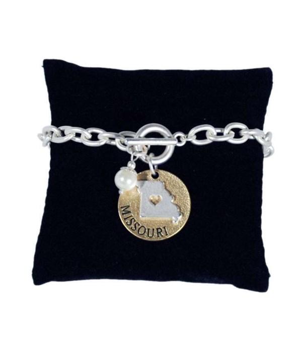 MO Toggle Bracelet Pearl Disc