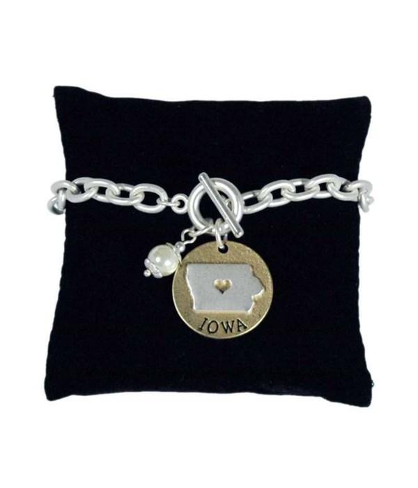 KS Toggle Bracelet Pearl Disc