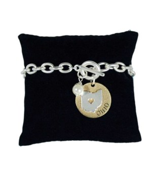 OH Toggle Bracelet Pearl Disc