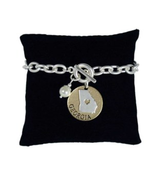 GA Toggle Bracelet Pearl Disc