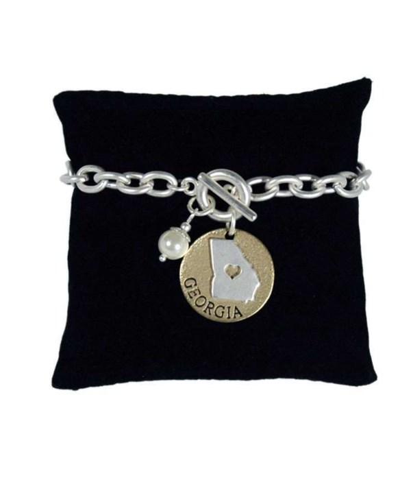 GA Toggle Bracelet Pearl Disc