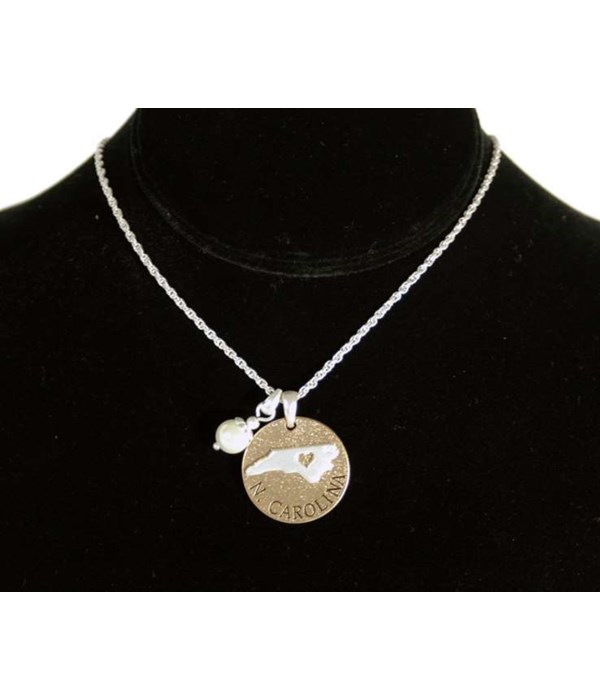 NC Toggle Necklace Pearl Disc