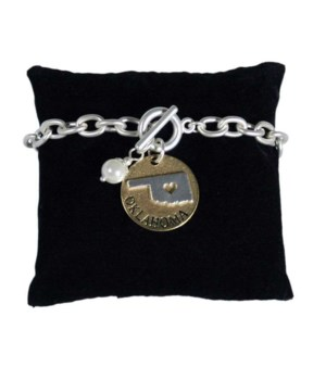 OK Toggle Bracelet Pearl Disc