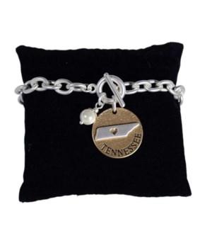 TN Toggle Bracelet Pearl Disc