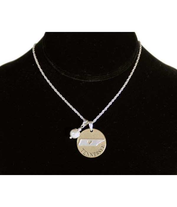 TN Toggle Necklace Pearl Disc