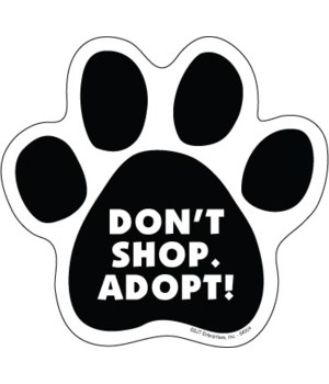 Don't Shop. Adopt! Paw Magnet
