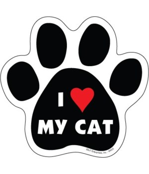 I (heart) my cat Paw Magnet