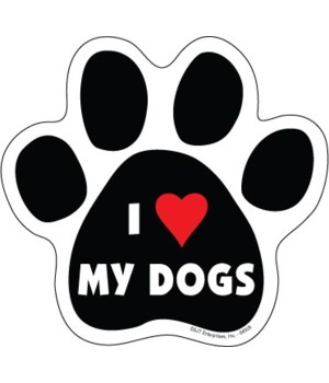 I (heart) my Dogs Paw Magnet