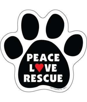 Peace, Love, Rescue Paw magnet