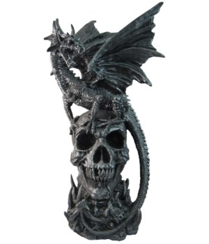 Dragon on Skull 18""