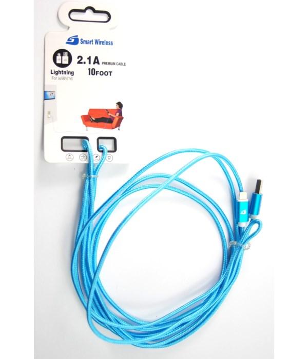 I-Phone 6+ 2.1 Amp 10' USB Cord