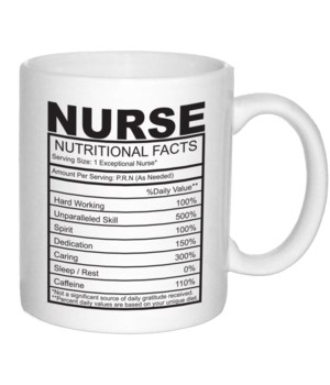 Nurse Nutritional Facts Mug 11oz (36MIN)