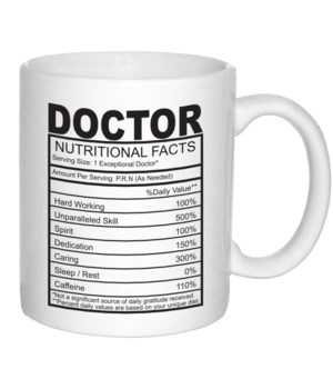 Doctor Nutritional Facts Mug 11oz(36MIN)