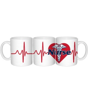 Nurse Heartbeat Mug 20oz (24 MIN)