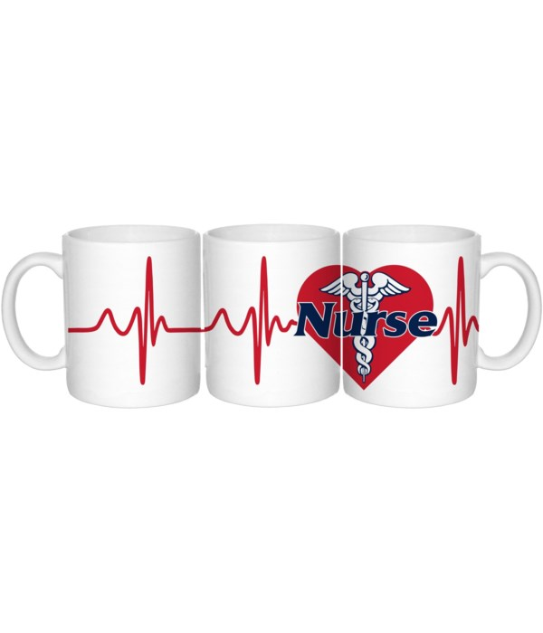 Nurse Heartbeat Mug 20oz (24 MIN)