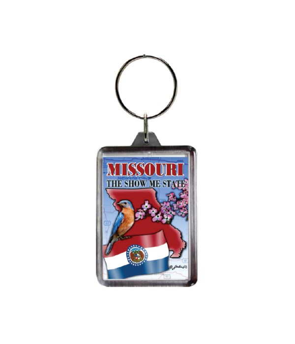 MO KEYCHAIN LUCITE MONTAGE