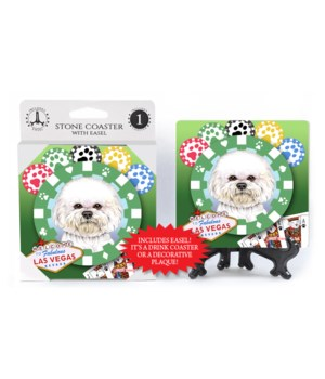 Bichon Frise - Vegas Dog Coaster