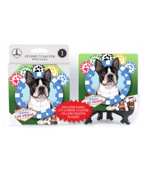 Boston Terrier - Vegas Dog Coaster