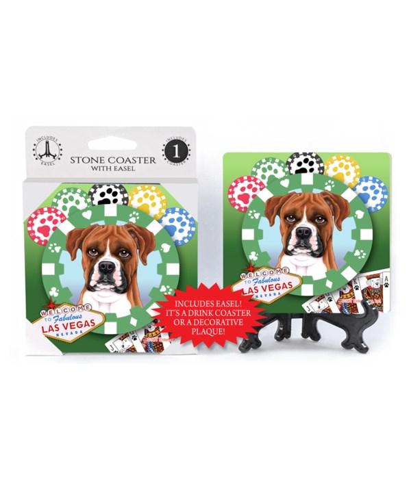 Boxer (dropped ears) - Vegas Dog Coaster
