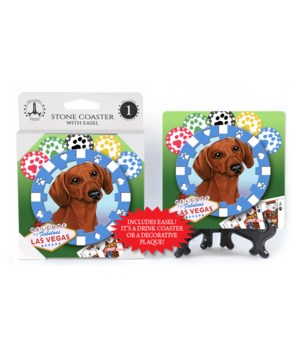 Dachshund (brown) - Vegas Dog Coaster