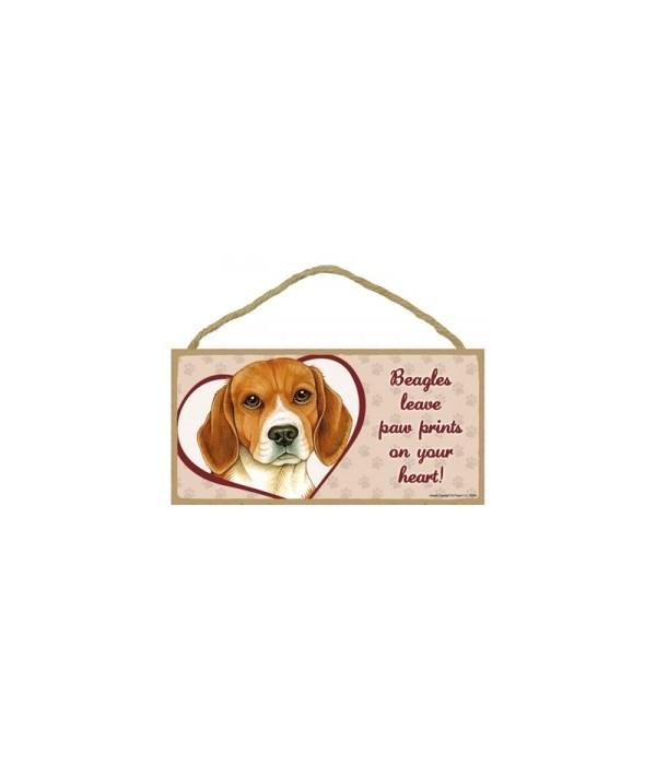 Beagle Paw Prints 5x10 plaque