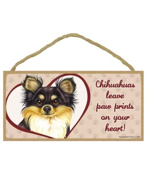 Blk/Tan Chihuahua Paw Prints 5x10 plaque