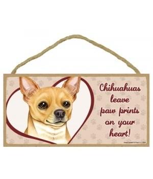 Tan Chihuahua Paw Prints 5x10 plaque