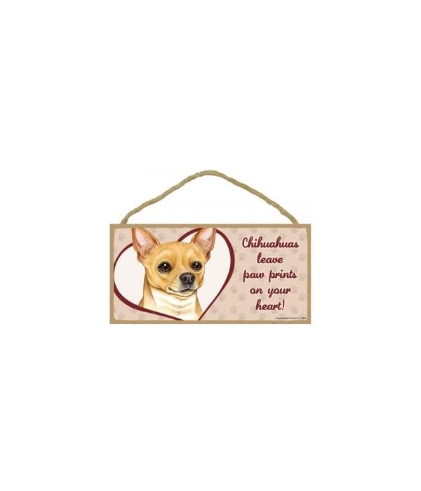 Chihuahua TanPaw Prints 5x10 plaque