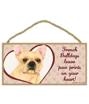 French Bulldog Paw Prints 5x10 plaque