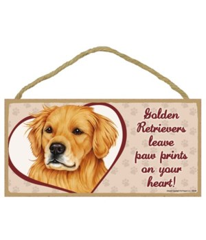 Golden Retriever Paw Prints 5x10 plaque
