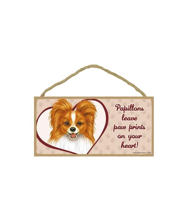 Reddish BRN Papillon Paw Prints 5x10 pla