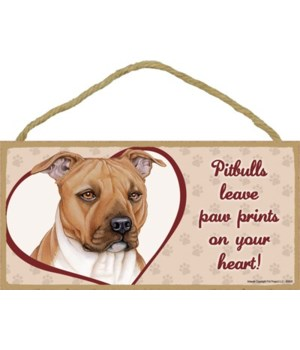Pitbull Paw Prints 5x10 plaque