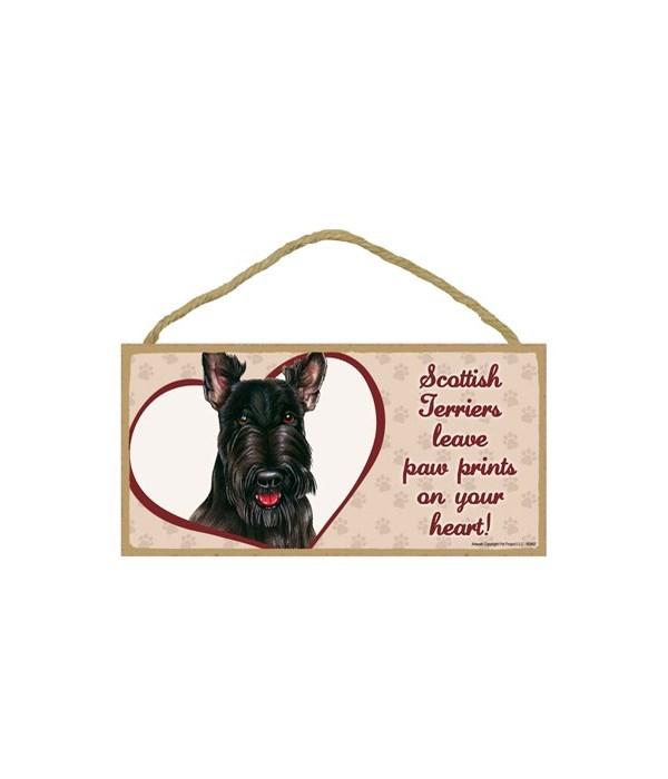 Scottish Terrier Paw Prints 5x10 plaque