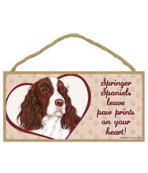 Springer Spaniel Paw Prints 5x10 plaque