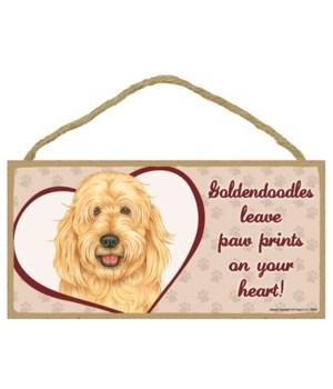 Goldendoodle Paw Prints 5x10 plaque