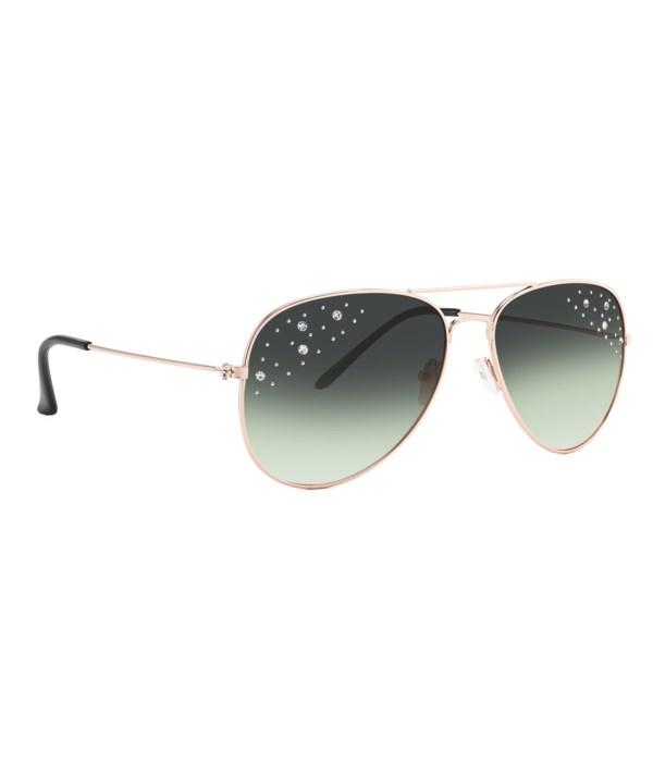 Vox Pilot Sunglasses w/ Rhinestones