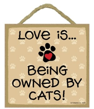 Cats Love Is.. 5x5 plaque