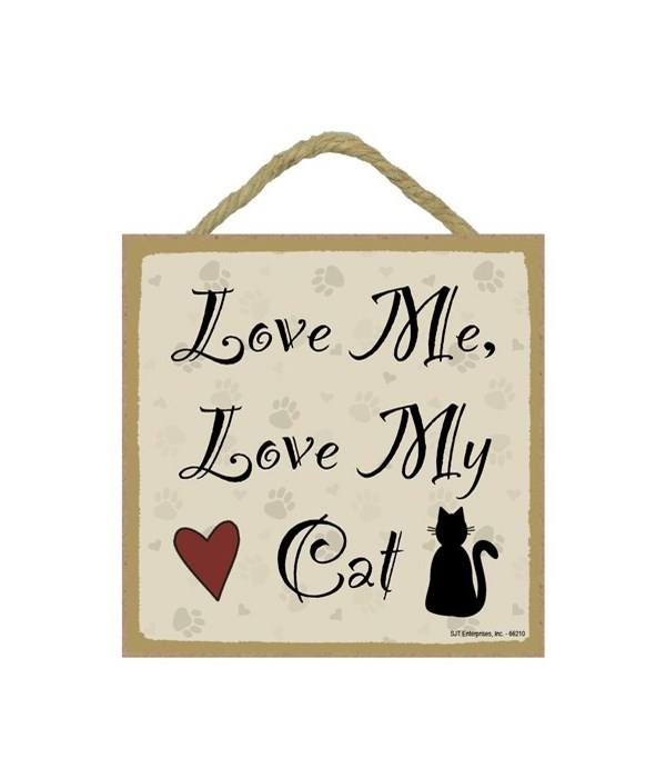Love Me... My Cat 5x5 plaque